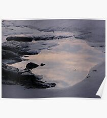 Clouds in the Tidal Pool Poster
