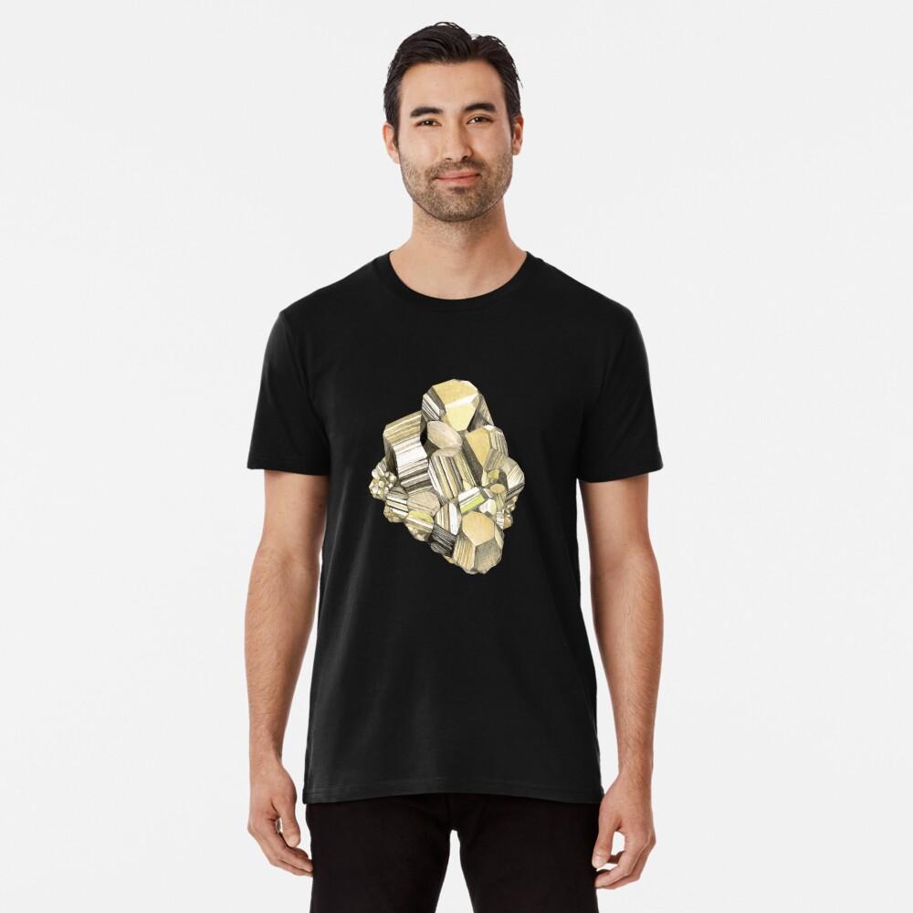 Watercolor pyrite crystal Premium T-Shirt