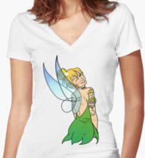 Tinker Bell - Alternative Women's Fitted V-Neck T-Shirt