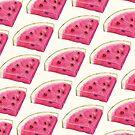 Watermelon Slice Pattern - White by Kelly  Gilleran