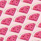 Watermelon Slice Pattern - Pink by Kelly  Gilleran