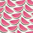 Watermelon Pattern - White by Kelly  Gilleran