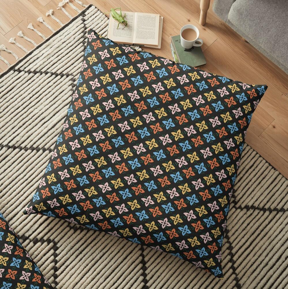 Las Flores 01 (Patterns Please) Floor Pillow