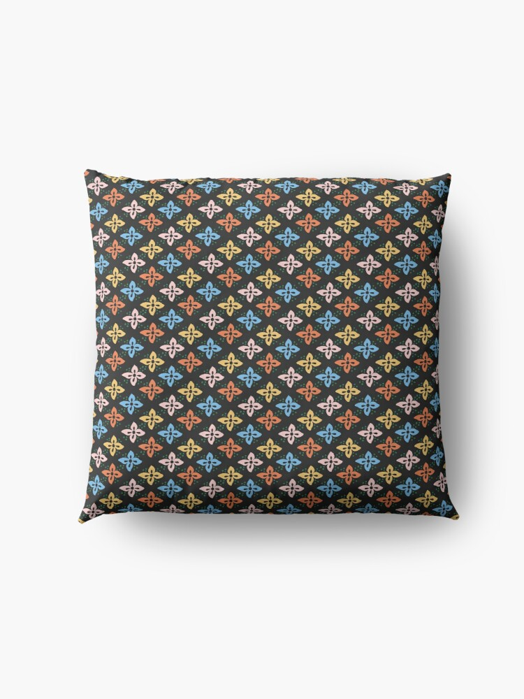 Alternate view of Las Flores 01 (Patterns Please) Floor Pillow