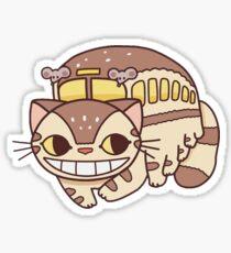 Cat Commute Sticker