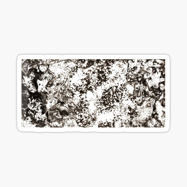 #Monochrome #Dirty #Abstract #Stain Pattern Design Rough Art Sticker