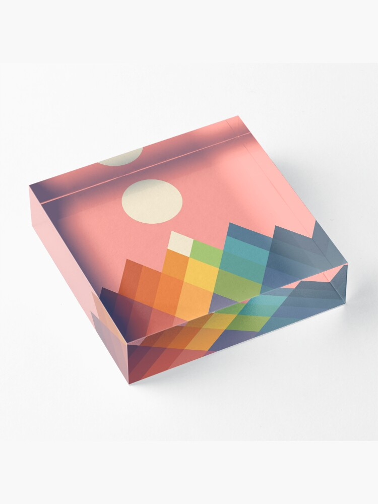 Alternate view of Rainbow Peak Acrylic Block