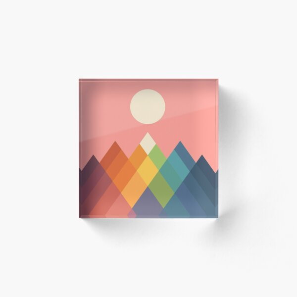 Rainbow Peak Acrylic Block