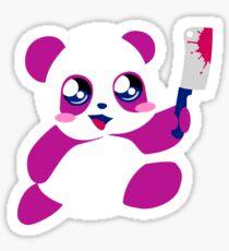 kawaii panda will KILL YOU!  Sticker