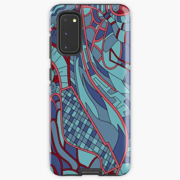 Wandering Abstract Line Art 31: Blue Samsung Galaxy Tough Case