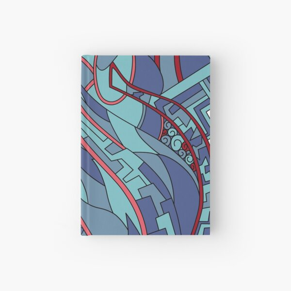 Wandering Abstract Line Art 31: Blue Hardcover Journal