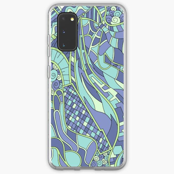 Wandering Abstract Line Art 31: Green Samsung Galaxy Soft Case