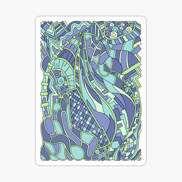 Wandering Abstract Line Art 31: Green Sticker