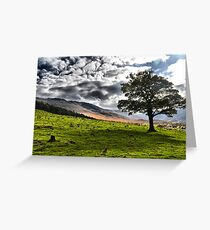 Moorland over dovestone Greeting Card