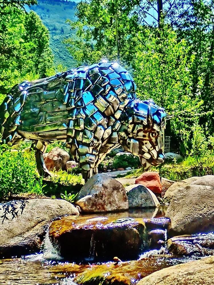 Buffalo, John Denver Park, Roaring Fork River, Aspen by 32DARTS
