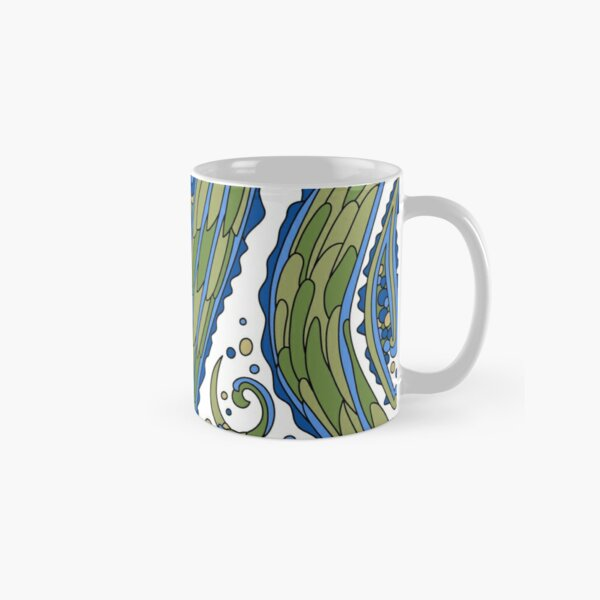Wandering Abstract Line Art 38: Blue Classic Mug