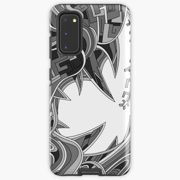 Wandering Abstract Line Art 39: Grayscale Samsung Galaxy Tough Case