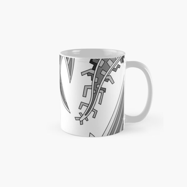 Wandering Abstract Line Art 39: Grayscale Classic Mug