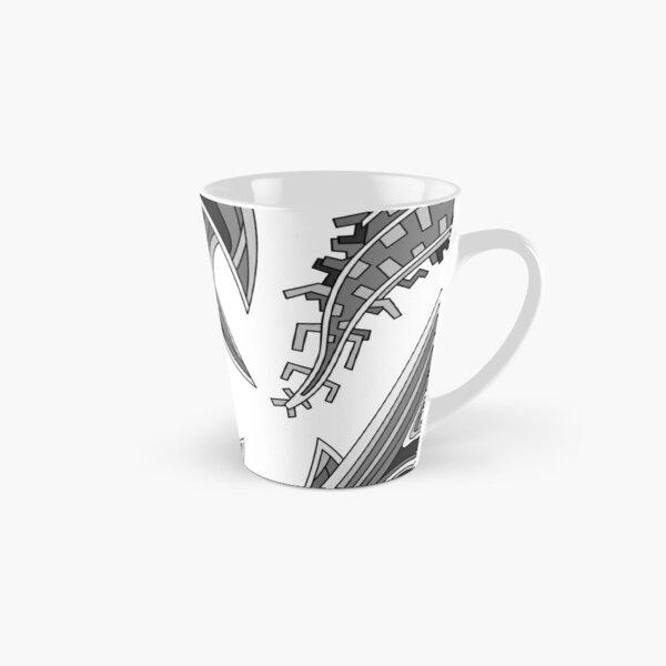 Wandering Abstract Line Art 39: Grayscale Tall Mug