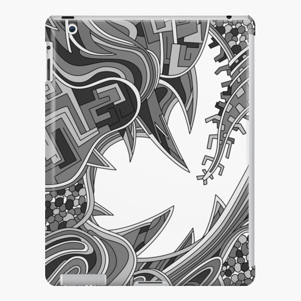 Wandering Abstract Line Art 39: Grayscale iPad Snap Case