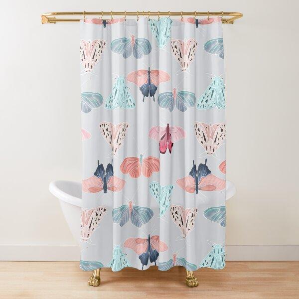 Grey butterfly friends Shower Curtain