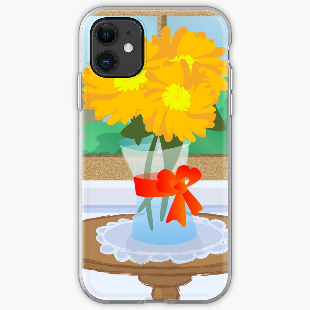 Flowers by a Window iPhone Case & Cover