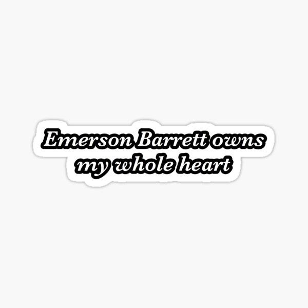 emerson barrett owns my whole heart sticker Sticker
