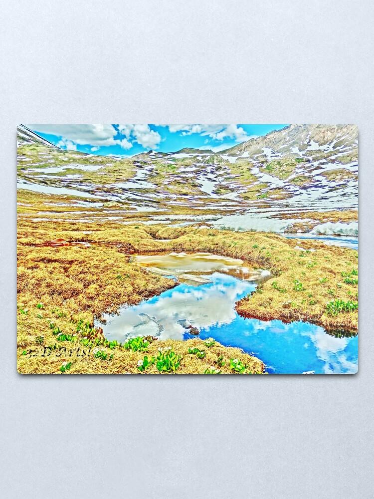 Alternate view of Roaring Fork River, Headwaters No.7 Metal Print