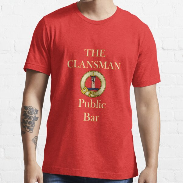 Clansman Public Bar Still Game Glasgow Essential T-Shirt