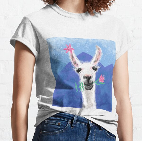 Llama Yama Flowerama Classic T-Shirt