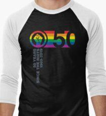 Camiseta ¾ estilo béisbol 50 años desde los disturbios 1969-2019