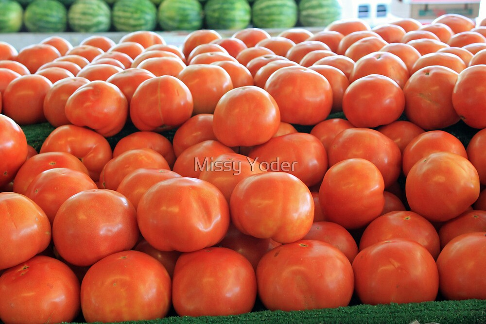 Tomatoes For Sale at a Fruit Stand by Missy Yoder
