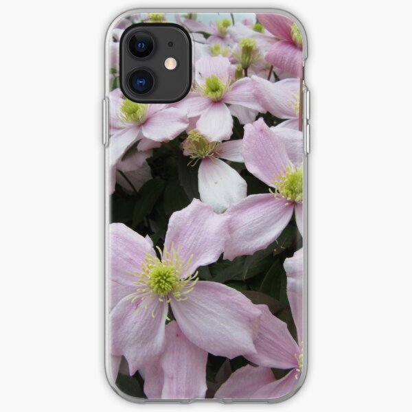 Clematis Montana Pink Perfection iPhone Soft Case