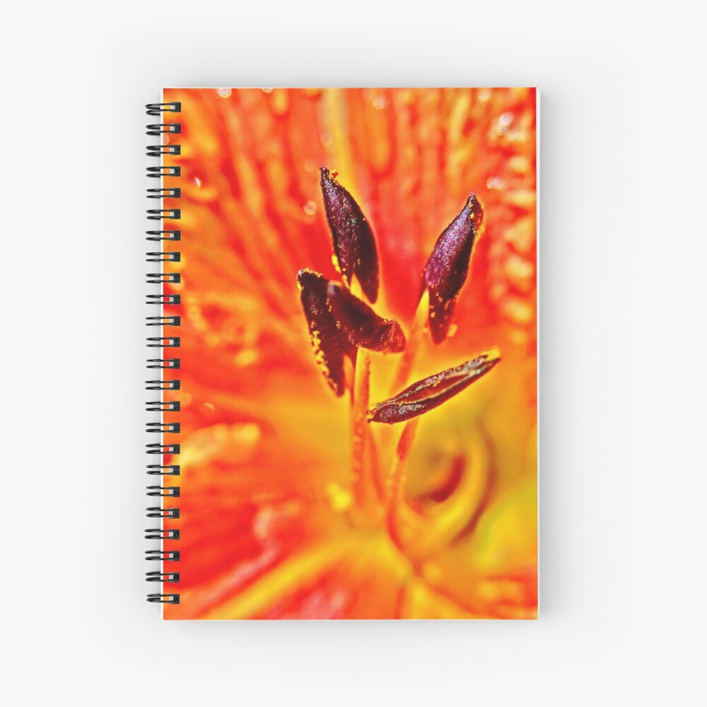 Five Stamen Day Lilly  Spiral Notebook