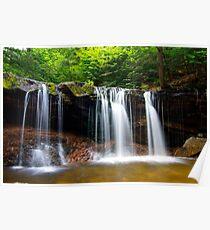 Oneida Waterfalls.  Poster