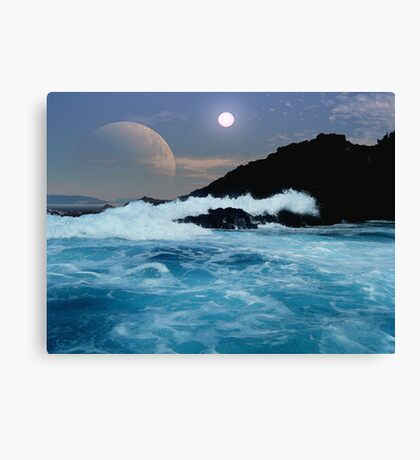Shipwreck Rocks Canvas Print