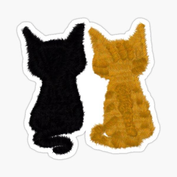 Two cats Pegatina