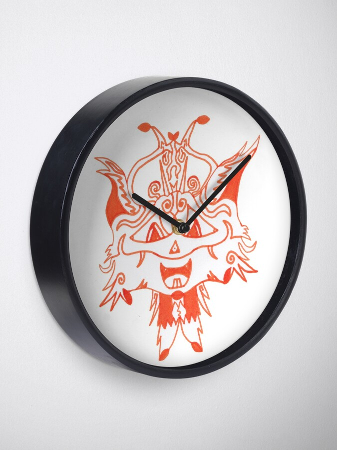 Alternate view of Merch #41 -- Fancy Fox Face Clock