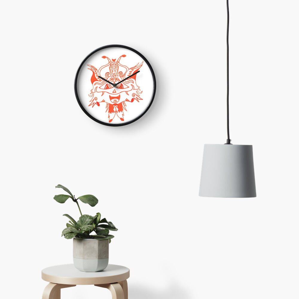 Merch #41 -- Fancy Fox Face Clock