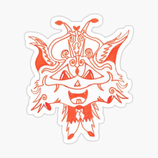 M.I. #41 |☼| Fancy Fox Face Sticker