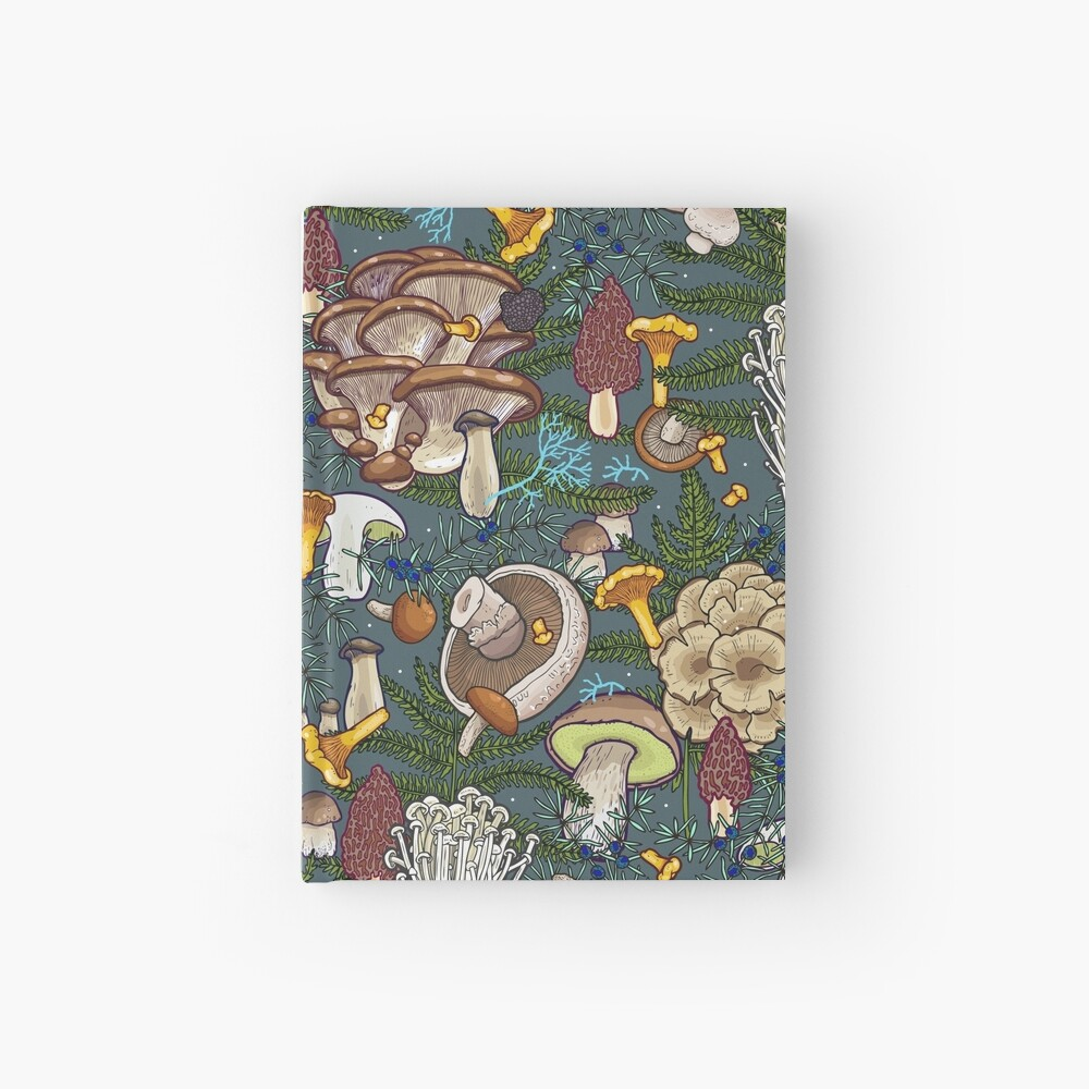 mushroom forest Hardcover Journal