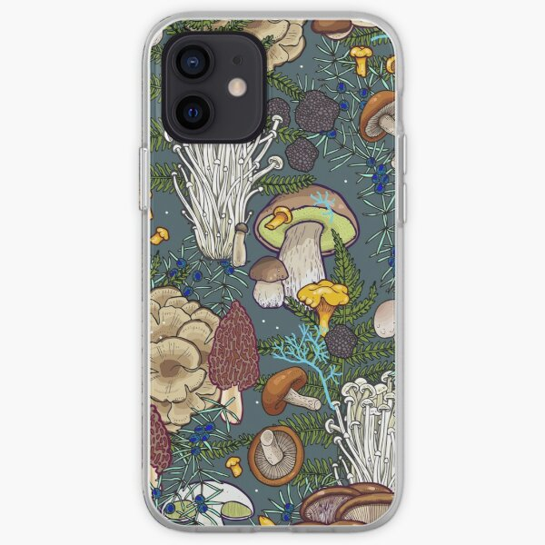 mushroom forest iPhone Soft Case