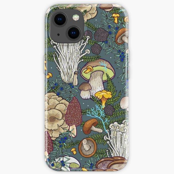 mushroom forest iPhone Soft Case