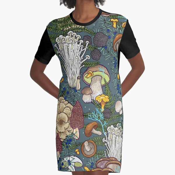mushroom forest Graphic T-Shirt Dress