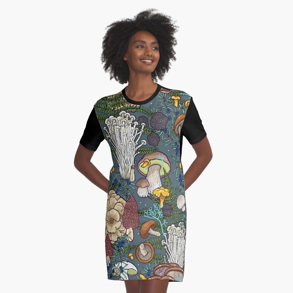 mushroom forest Graphic T-Shirt Dress