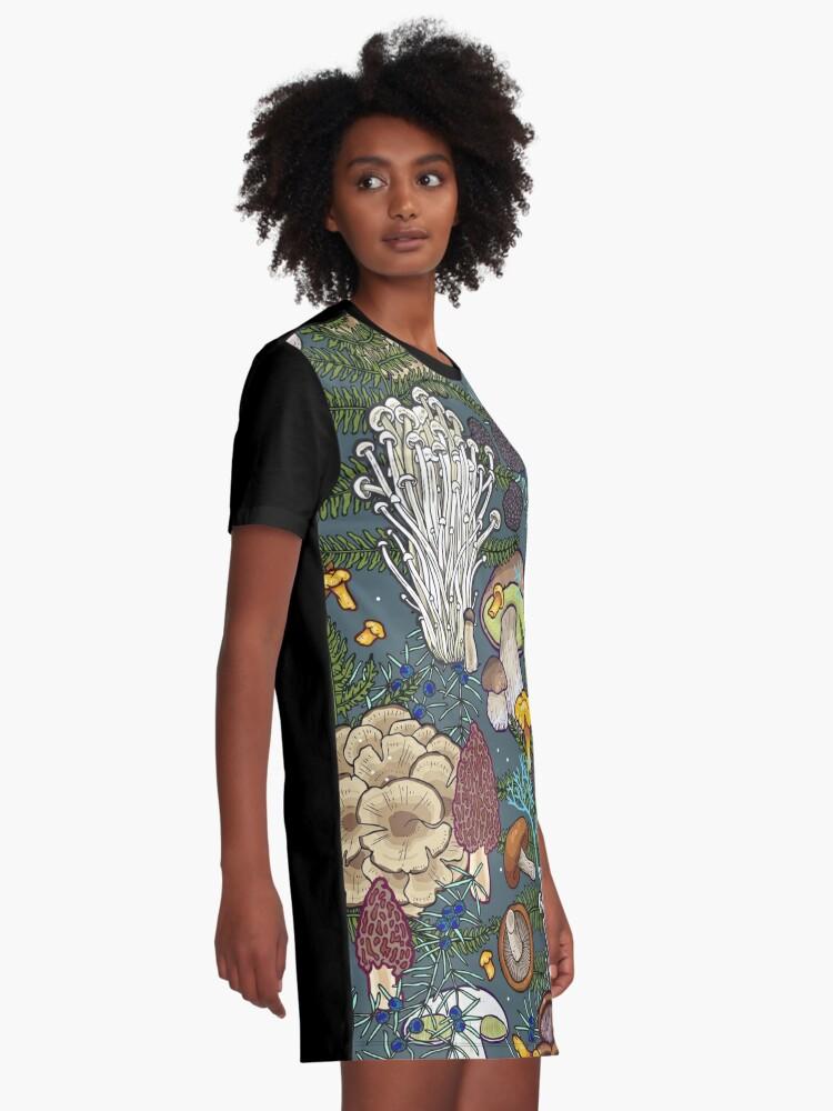 Alternate view of mushroom forest Graphic T-Shirt Dress