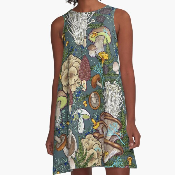 mushroom forest A-Line Dress