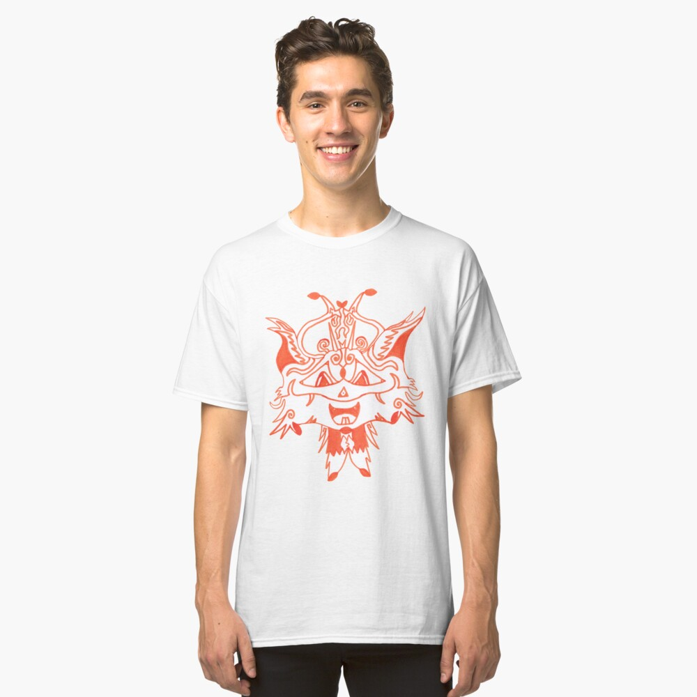 Merch #41 -- Fancy Fox Face Classic T-Shirt