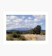 Mt Ruapehu Art Print