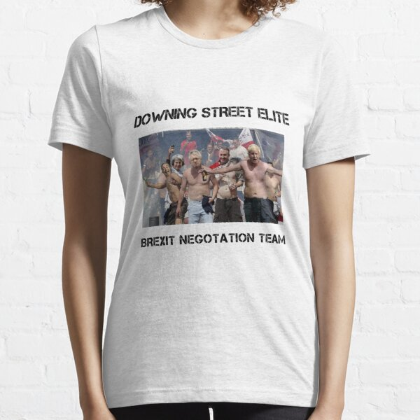 Funny Brexit T Shirt Downing Street Elite Essential T-Shirt